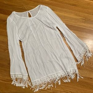 SHEIN White Bathing Suit Cover Up